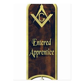 Entered Apprentice Postcard