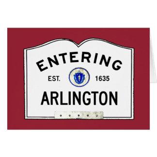 Entering Arlington Card