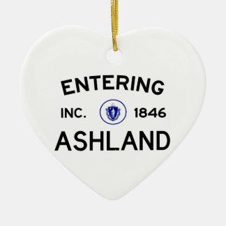 Entering Ashland Ceramic Ornament