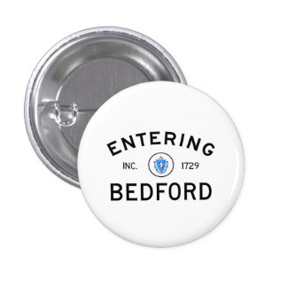 Entering Bedford 3 Cm Round Badge
