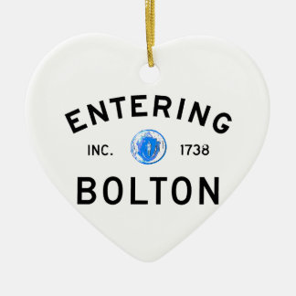 Entering Bolton Ceramic Ornament