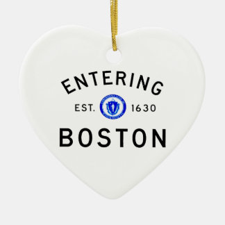 Entering Boston Ceramic Ornament