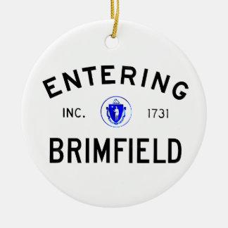 Entering Brimfield Round Ceramic Decoration