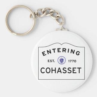 Entering COHASSET MASSACHUSETTS Street Sign Key Ring