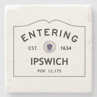 Entering Ipswich Marble coaster stone coaster