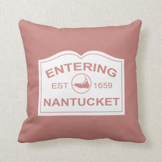 Entering Nantucket Island, Est 1659 with Map Cushion