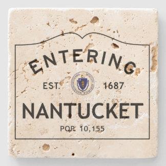 Entering Nantucket Stone Coaster