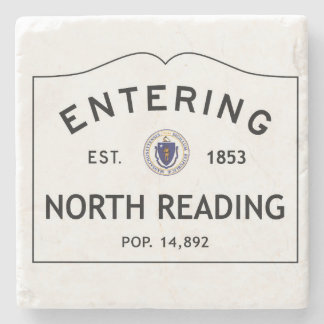 Entering North Reading Marble Stone Coaster
