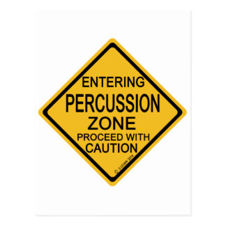 Entering Percussion Zone Postcard