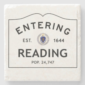 Entering Reading Marble Coaster Stone Coaster