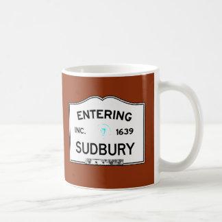 Entering Sudbury Basic White Mug