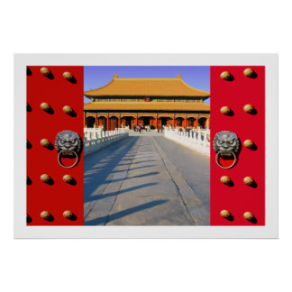 Entering the Inner Court of the Forbidden City Poster