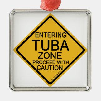 Entering Tuba Zone Metal Ornament