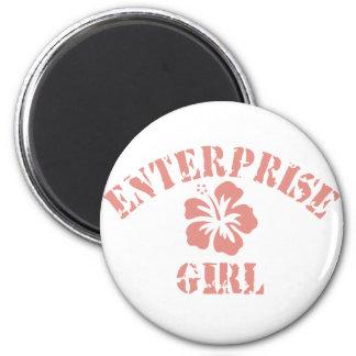 Enterprise Pink Girl Magnets
