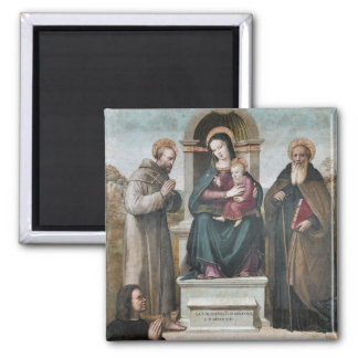 Enthroned Madonna and Child with Saints Refrigerator Magnets