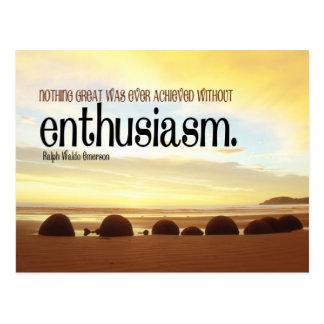 Enthusiasm Motivational Postcard