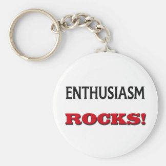 Enthusiasm Rocks Key Ring