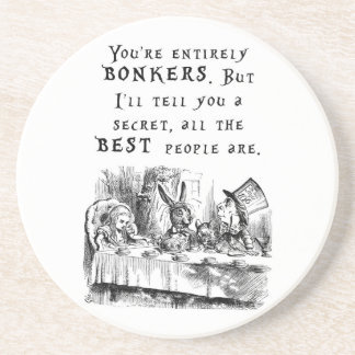 entirely bonkers A4 Drink Coaster