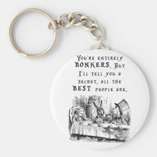 entirely bonkers A4 Key Ring