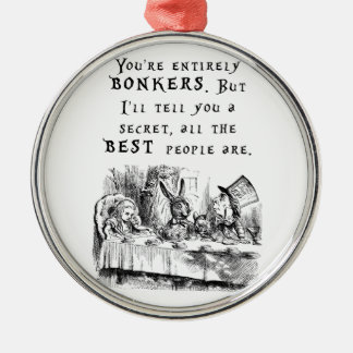 entirely bonkers A4 Metal Ornament