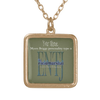 ENTJ theFieldmarshal Gold Plated Necklace