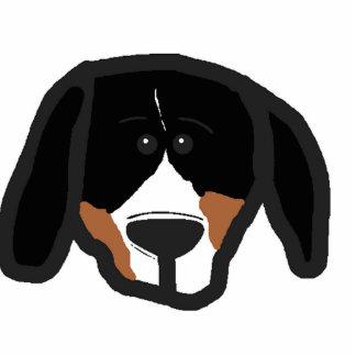 entlebucher 2 sided dog head cartoon photo sculpture key ring