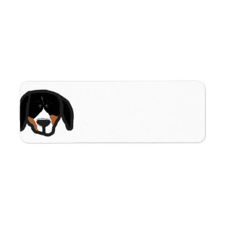 entlebucher 2 sided dog head cartoon return address label
