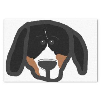entlebucher 2 sided dog head cartoon tissue paper