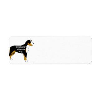 entlebucher mt dog name silo color return address label