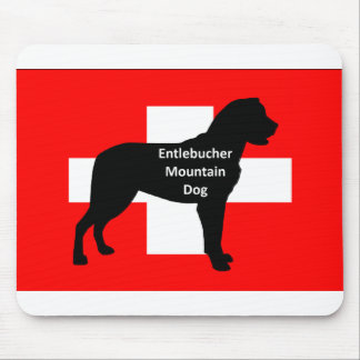 entlebucher mt dog name silo on switzerland flag.p mouse pad