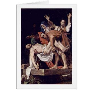 Entombment By Michelangelo Merisi Da Caravaggio Card