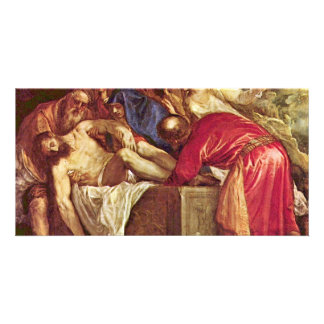 Entombment By Tizian (Best Quality) Customized Photo Card