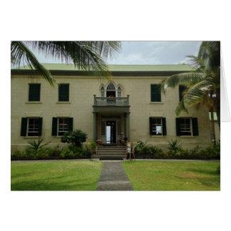 Entrance of Hulihe'e Palace in Kailua-Kona, Hawaii Card