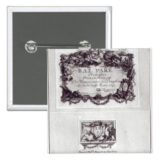 Entrance ticket for the ball in Versailles 15 Cm Square Badge