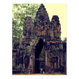 Entrance to Angkor Wat III Postcard