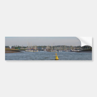 Entrance To Burnham Yacht Harbour Car Bumper Sticker