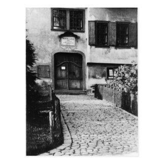 Entrance to Johann Sebastian Bach's  house Postcard