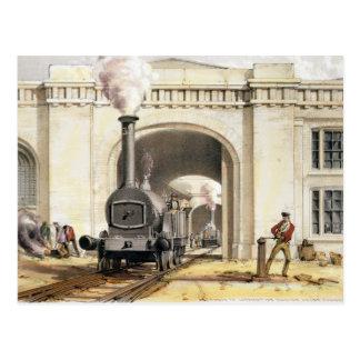 Entrance to Locomotive Engine House, Camden Town, Postcard