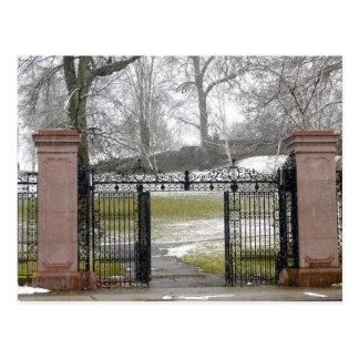 Entrance to Mellon Park, Pittsburgh, PA Postcard