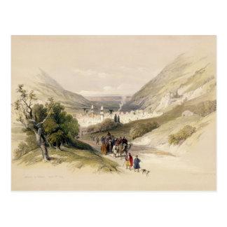 Entrance to Nablous, April 17th 1839, plate 41 fro Postcard
