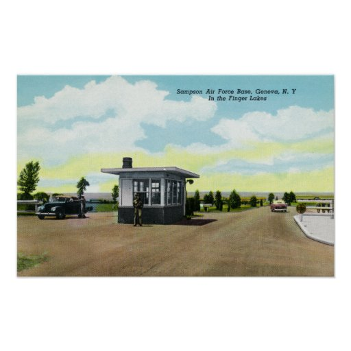 Entrance to Sampson Air Force Base View Poster