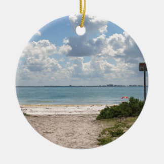 Entrance to Sanibel Beach Ceramic Ornament