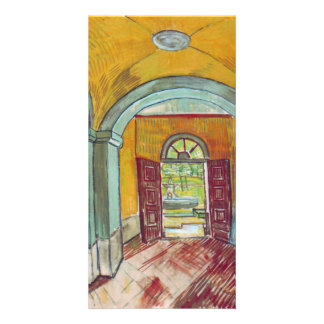 Entrance to the Hospital by Vincent van Gogh Custom Photo Card