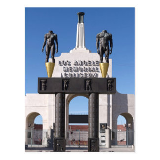 Entrance to the Los Angeles Memorial Coliseum, CA Postcard
