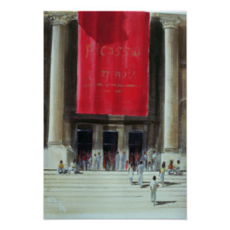Entrance to the Metropolitan Museum New York Poster