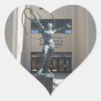 Entrance, Ventura High School, California Heart Sticker