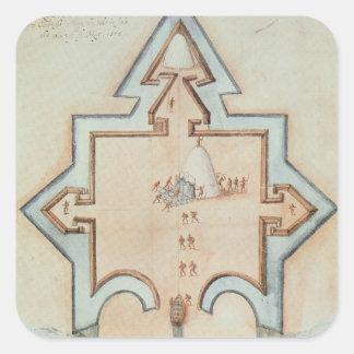 Entrenchments, Puerto Rico Square Sticker
