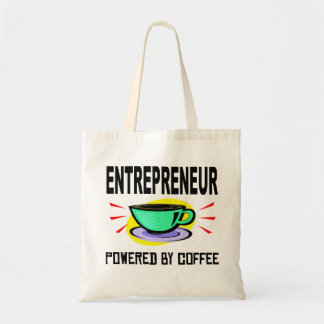 Entrepreneur Powered By Coffee Budget Tote Bag