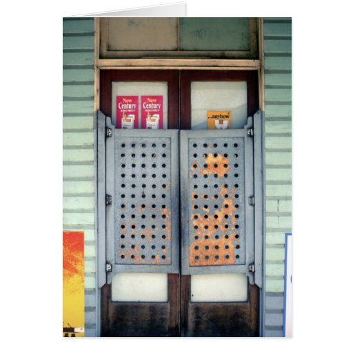 Entry doors of the Grand Hotel, Clermont Greeting Card