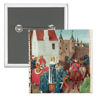 Entry into Paris of King Jean II  Le Bon 15 Cm Square Badge